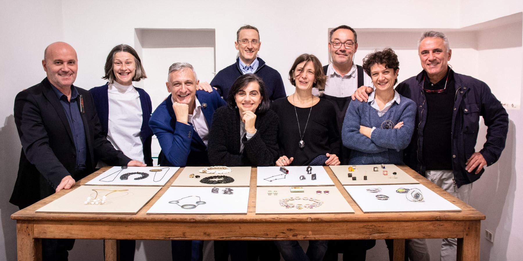 Artists at Vienna Jewelry Days: Gian Luca Bartellone, Maria Diana, Elisabetta Dupre, Konrad Laimer, Stefania Lucchetta, Federica Pallaver, Stenia Scarselli and Giorgio Chiarcos.