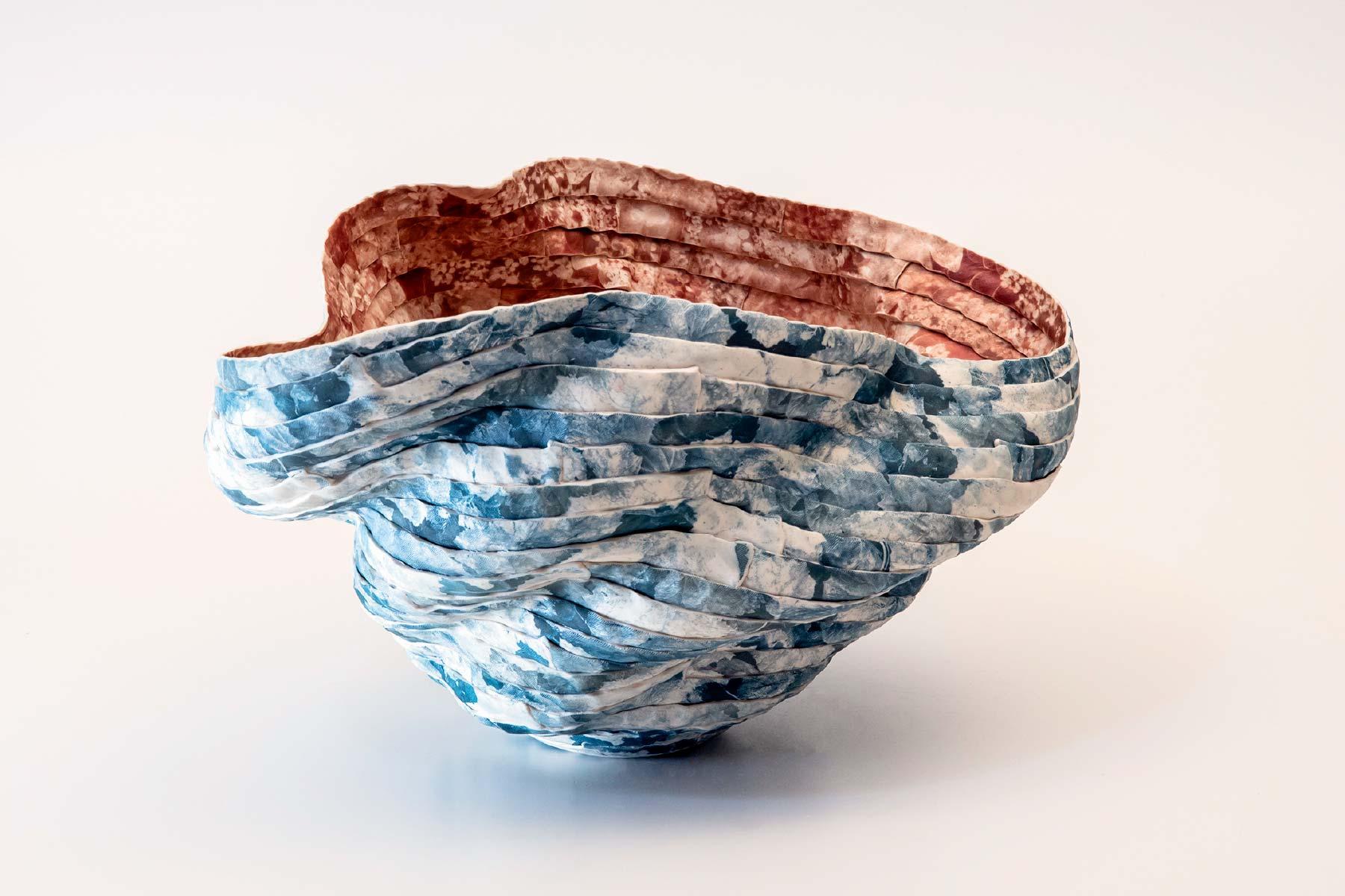 Sara Dario Bowl Sculpture In Movement Porcelain Italiano Plurale