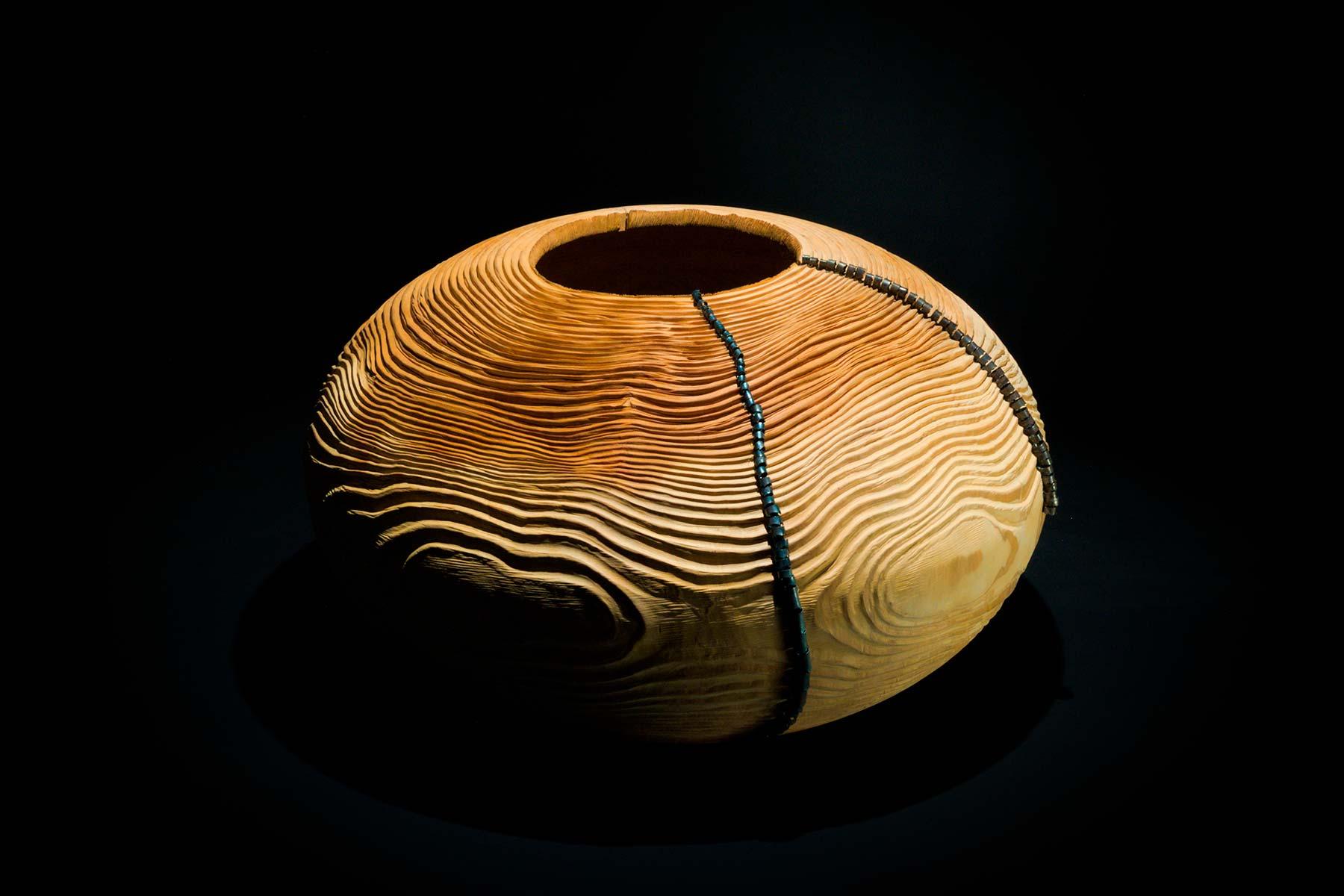 Lorenzo Franceschinis Sculpture Mussidae wood cedar of Lebanon leaf springs Italiano Plurale