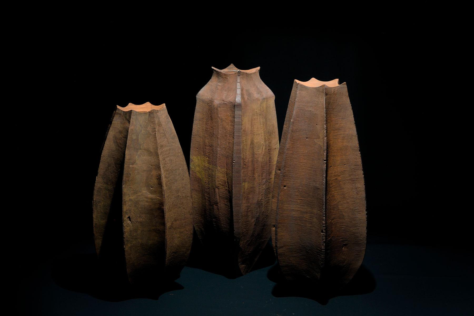 Lorenzo Franceschinis Sculptures Ctenophora wood shellac iron Italiano Plurale