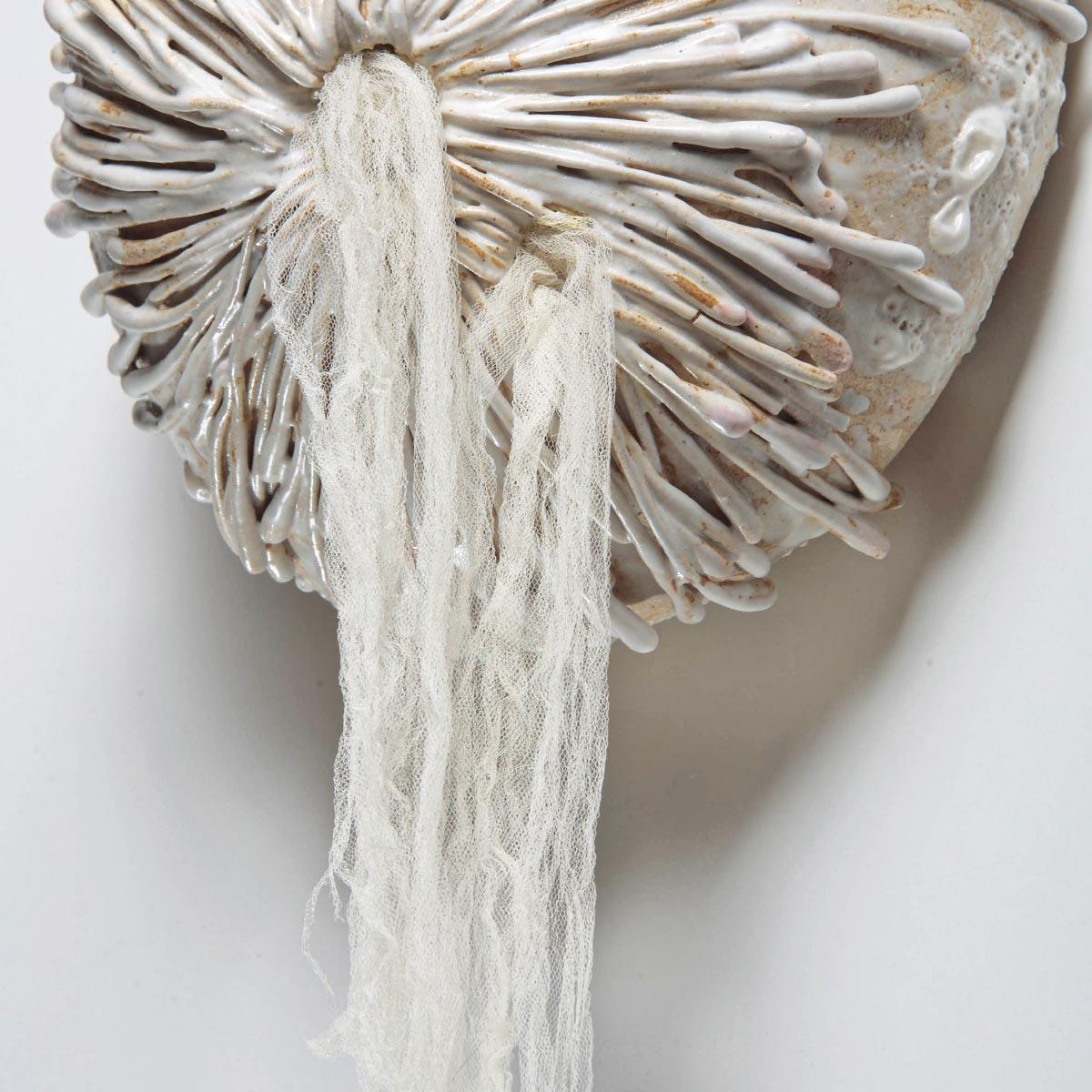 Sculpture Tako Tsubo stoneware glaze veil Angelica Tulimiero Italiano Plurale artist
