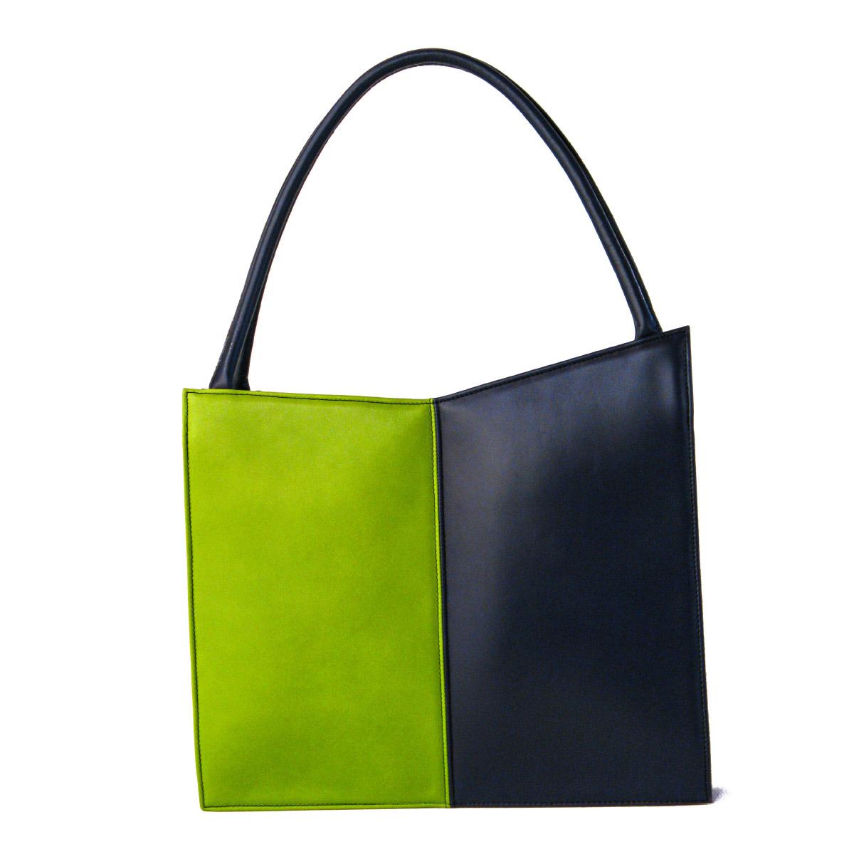 Annalisa Tessarolo Purse Verdeblu leather Italiano Plurale