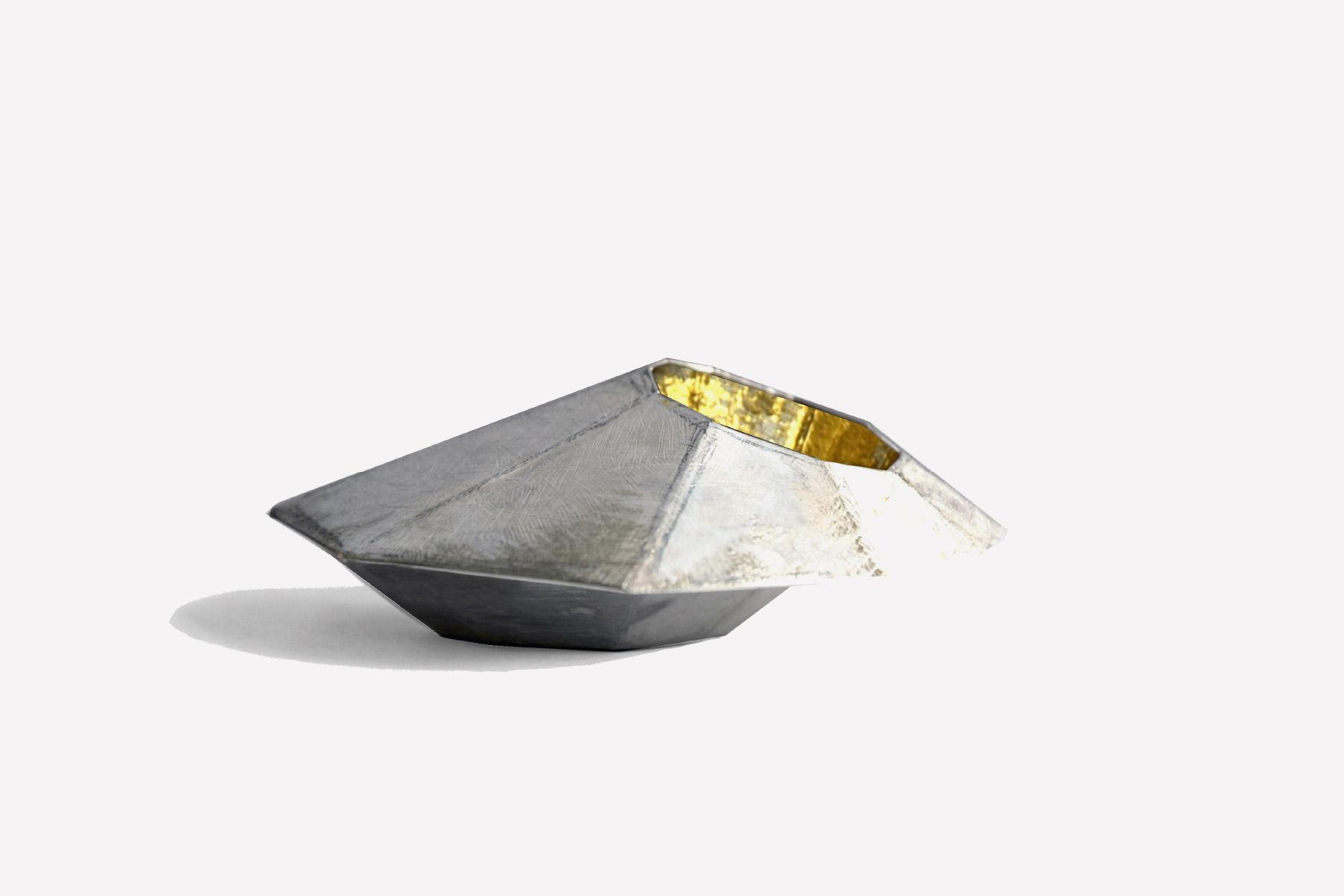 Brooch Lo spazio dell Oro Silver Gold leaf Pigments Caterina Zanca