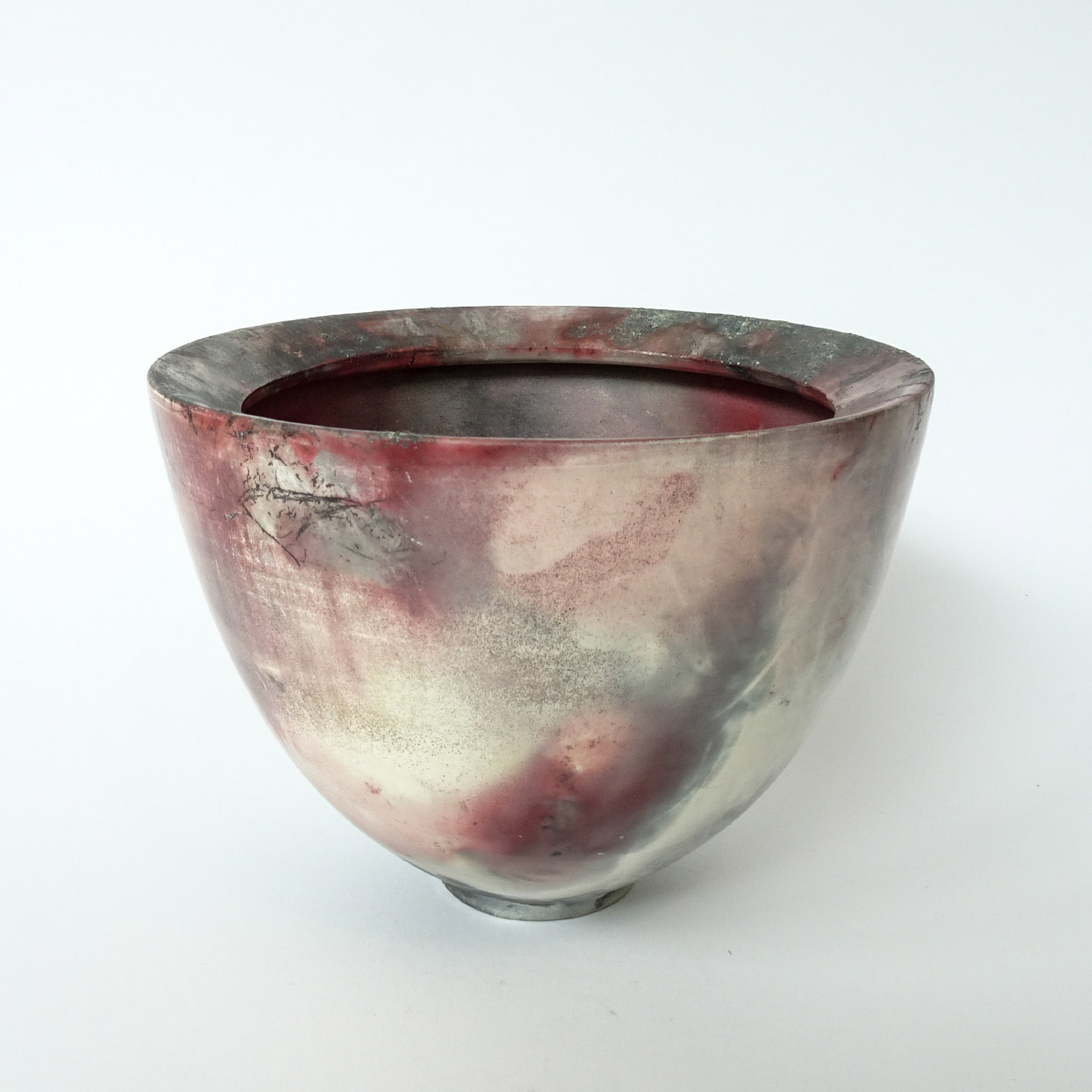 Elena Arosio Vessel Wheelthrown stoneware porcelain smoke and pit fired