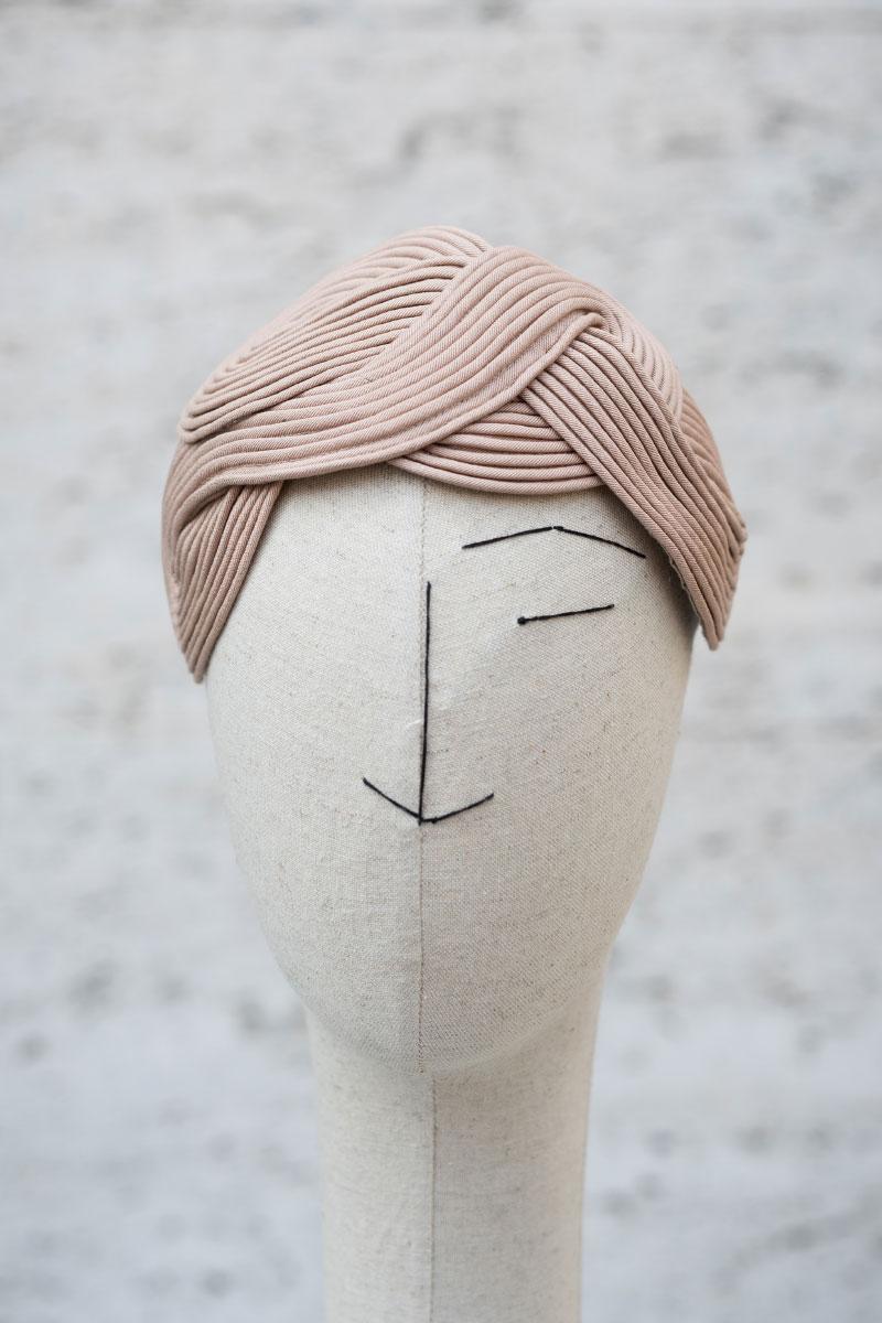 Headpiece Waves all over viscose cotton fabric Veronica Innocenzi Acapo
