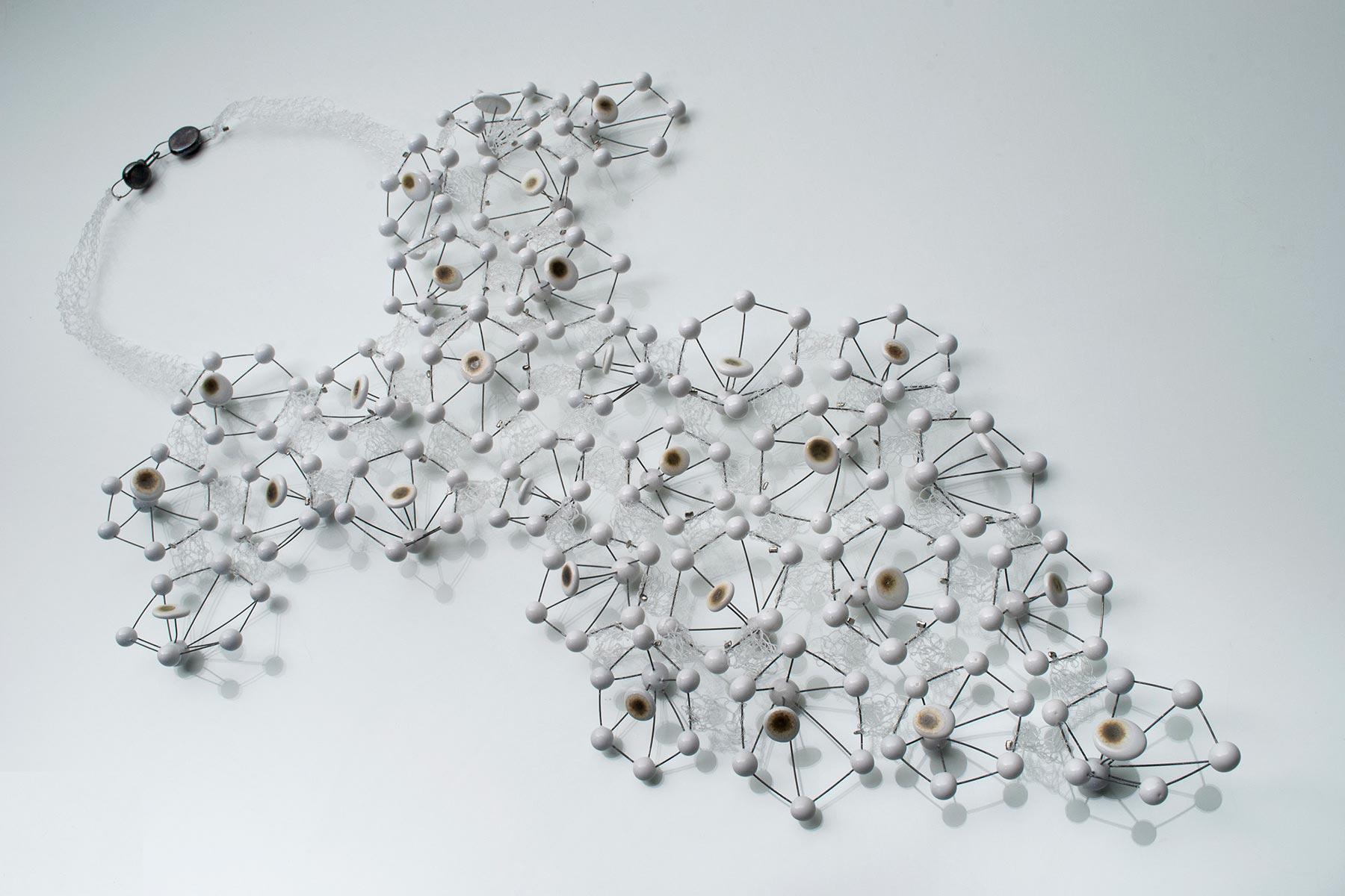 Lidia Marti ceramic Necklace Sambuco clay steel nylon Italiano Plurale
