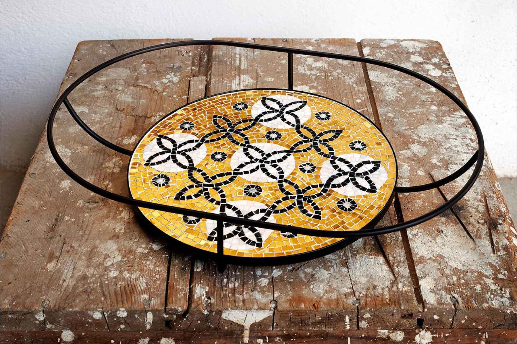 Mosaic Roman Pop glasses stones marble Ursula Corsi Italiano Plurale artist