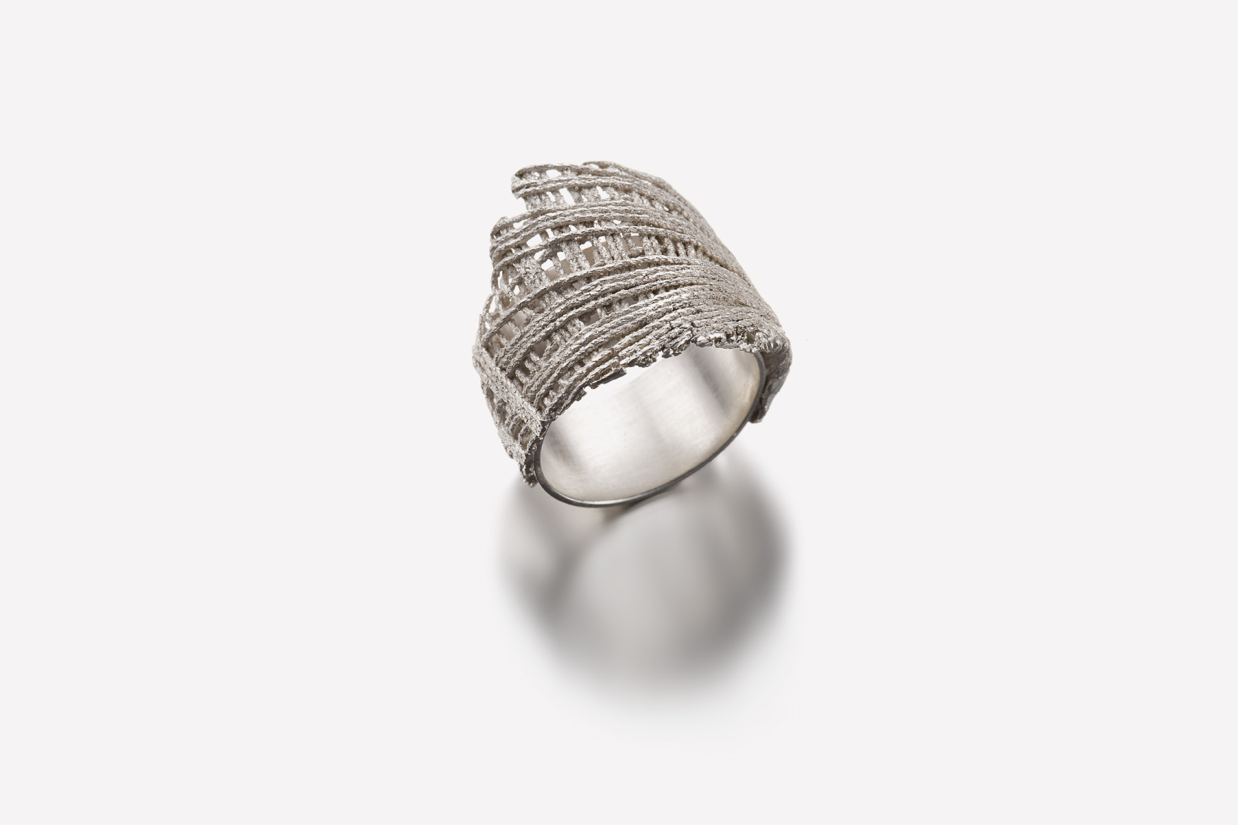 Ring Tessendo Collection Silver Valentina Caprini Italiano Plurale artist