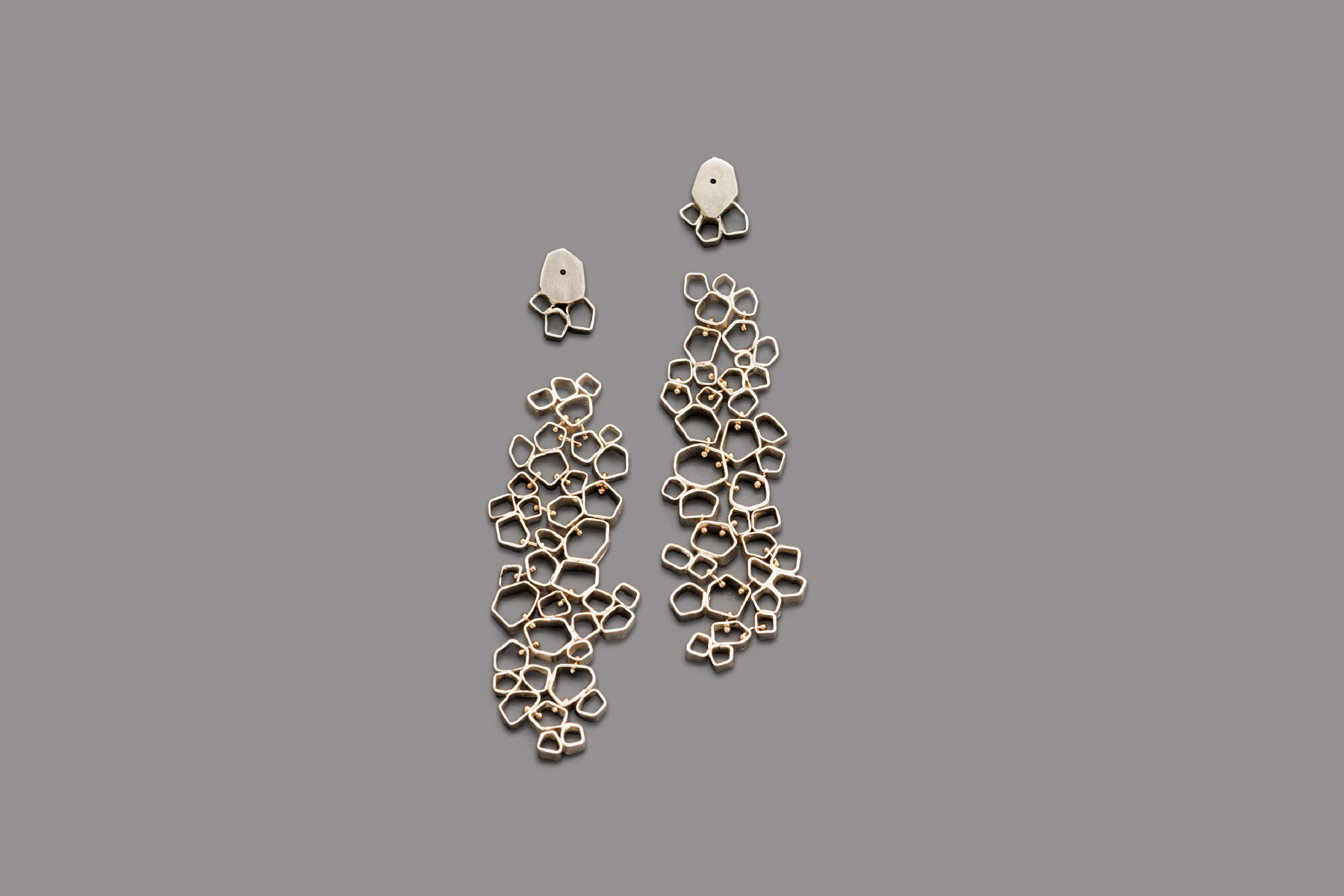 Valentina Caprini Earrings Silver White Gold Italiano Plurale