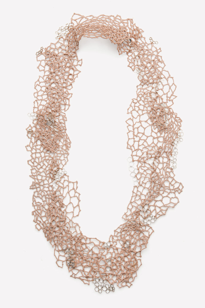 Valentina Caprini Necklace Untitled Thread Silver White Gold