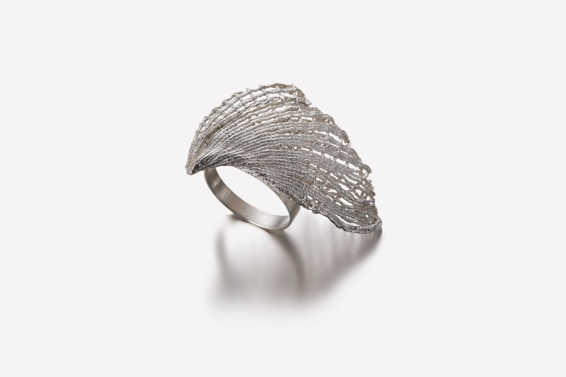 Valentina Caprini Ring Untitled Silver Italiano Plurale