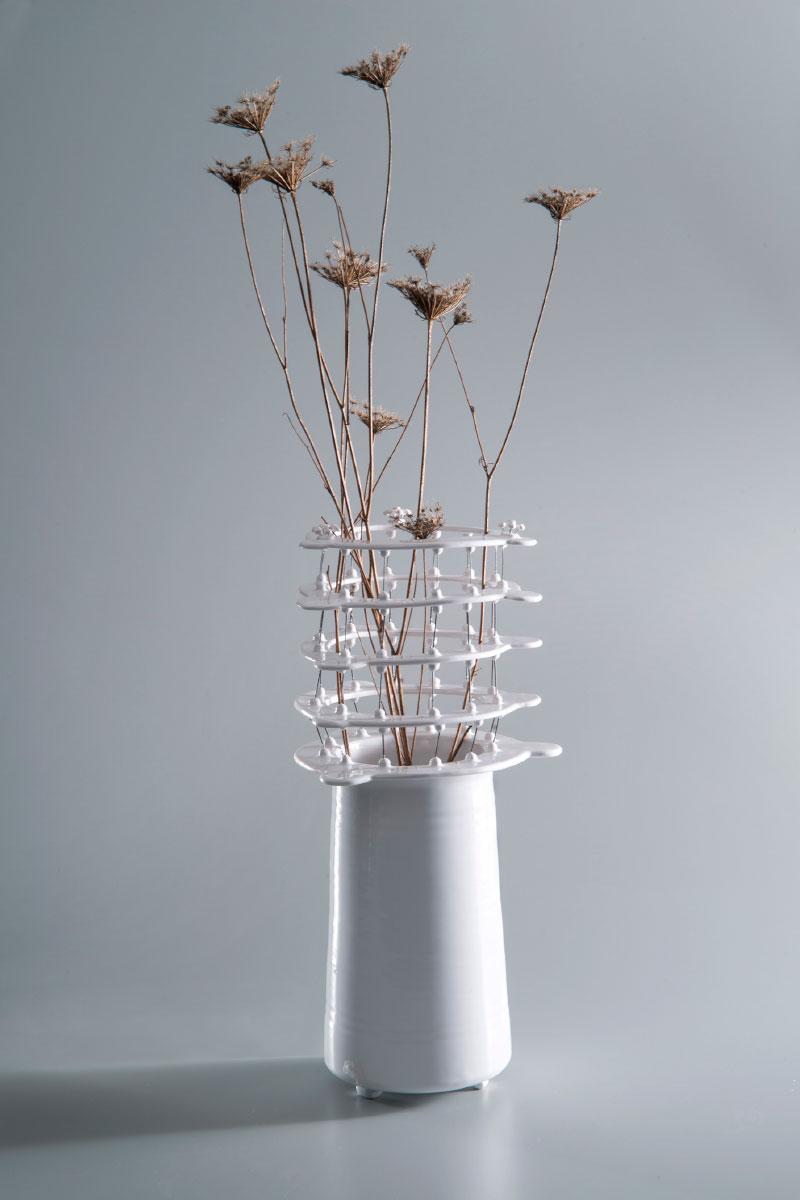 Vase Magia del tornio Ceramic vase clay steel Lidia Marti Italiano Plurale artist