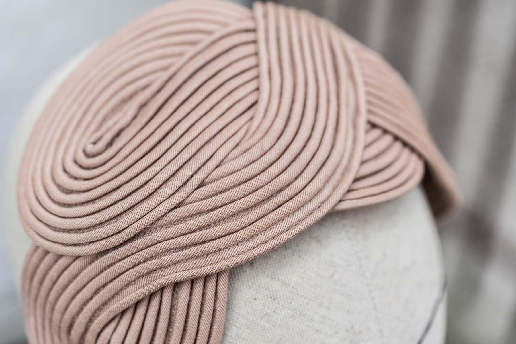 Veronica Innocenzi Acapo Headpiece Waves all over viscose cotton fabric