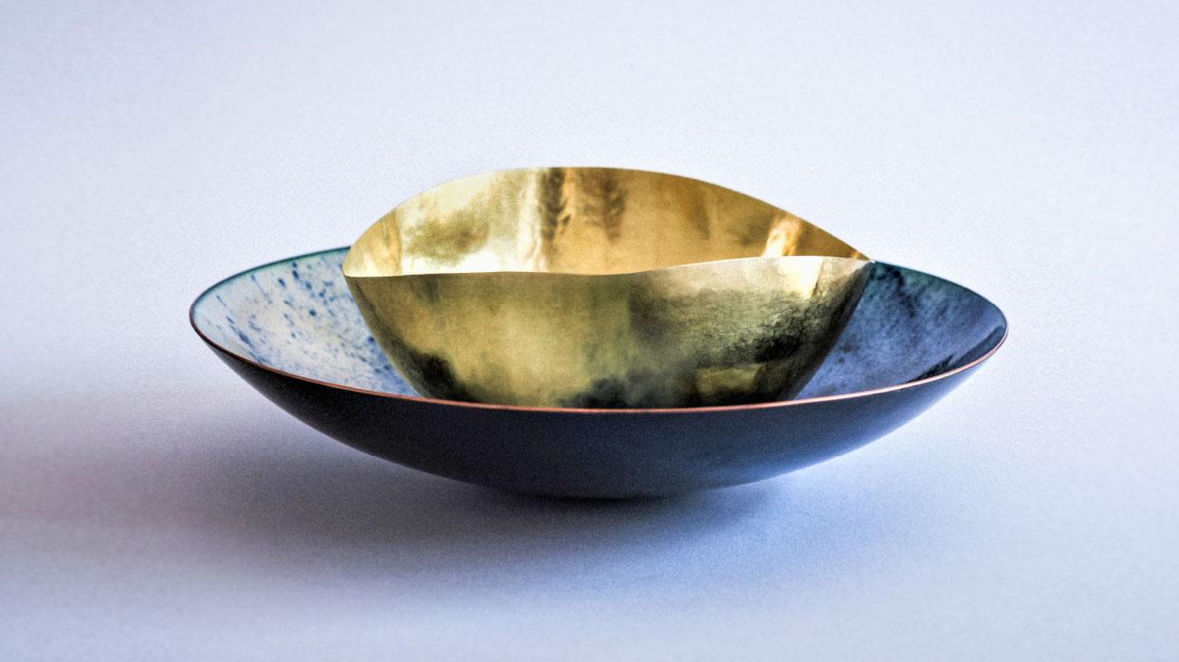 contemporary artist Alessandra Malfatti copper bowl italiano plurale