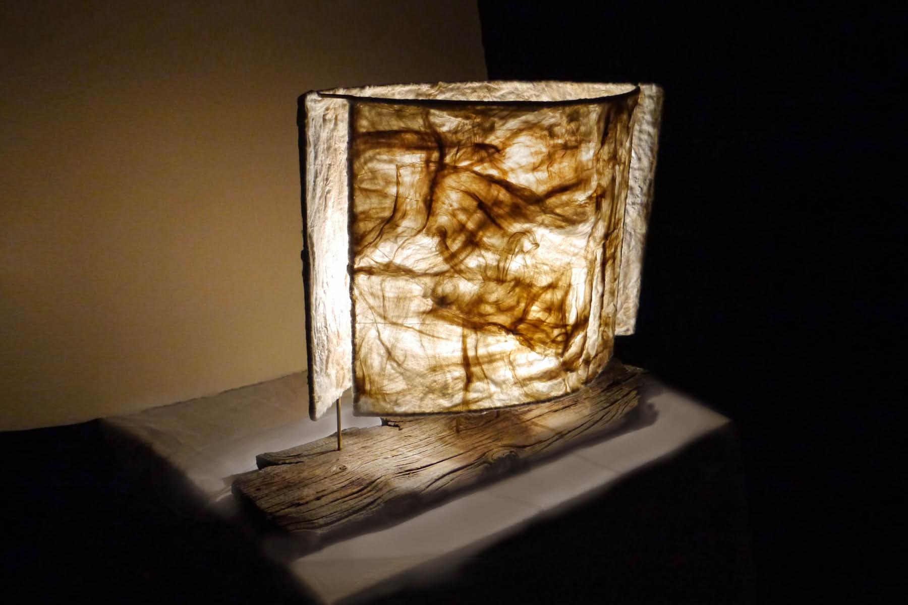 verena oppermann Lamp wood silk