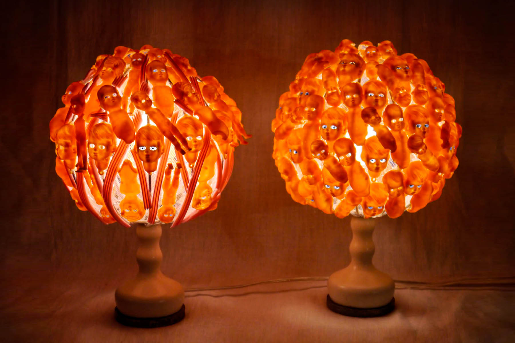 verena oppermann lamp wood iron plastic Italiano Plurale