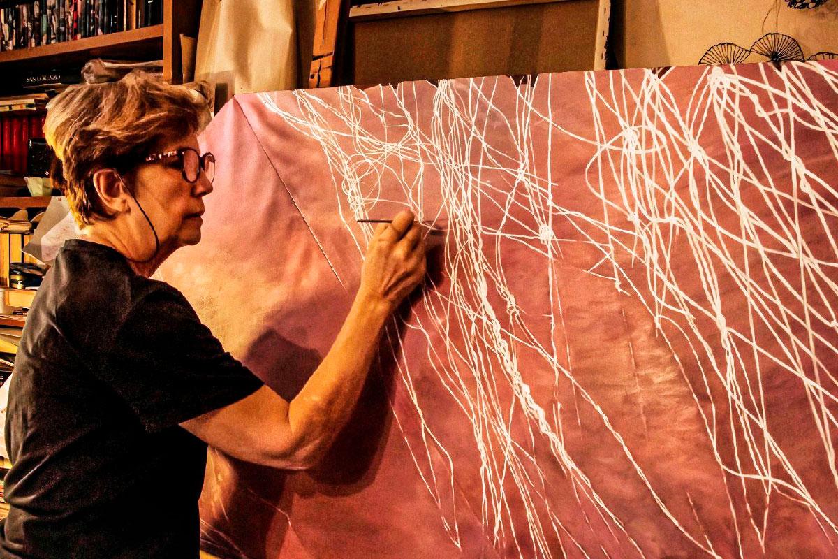 painting art handmade working details Maria Pia Pascoli contemporary artist Italiano Plurale 3