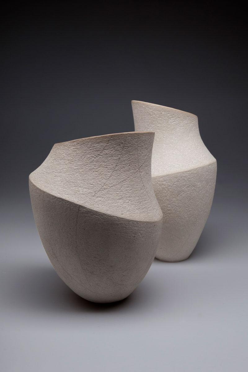 sculpture incrementum white semirefractory clay Lara De Sio Italiano Plurale artist