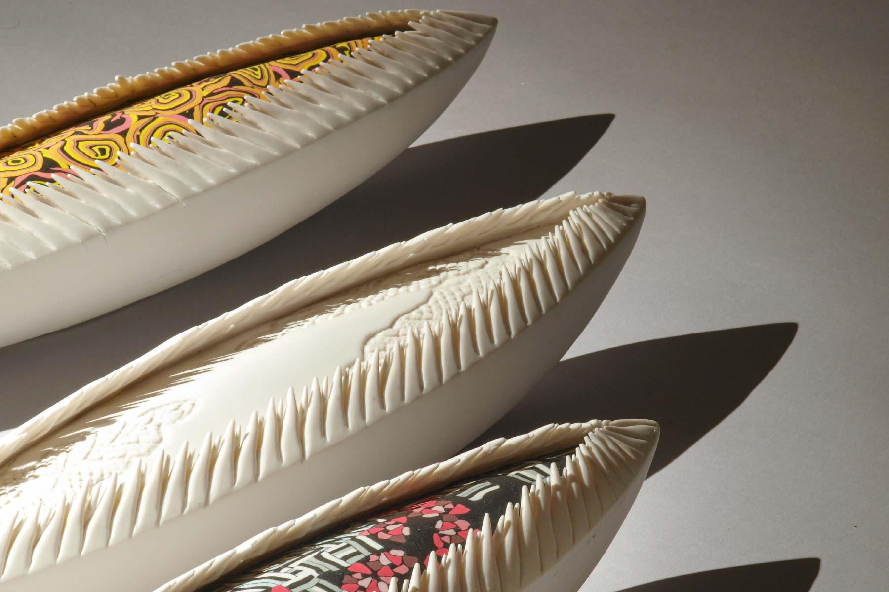 Sculptures Indecen laces Series Porcelain pigments Martha Pachon Rodriguez Italiano Plurale artist