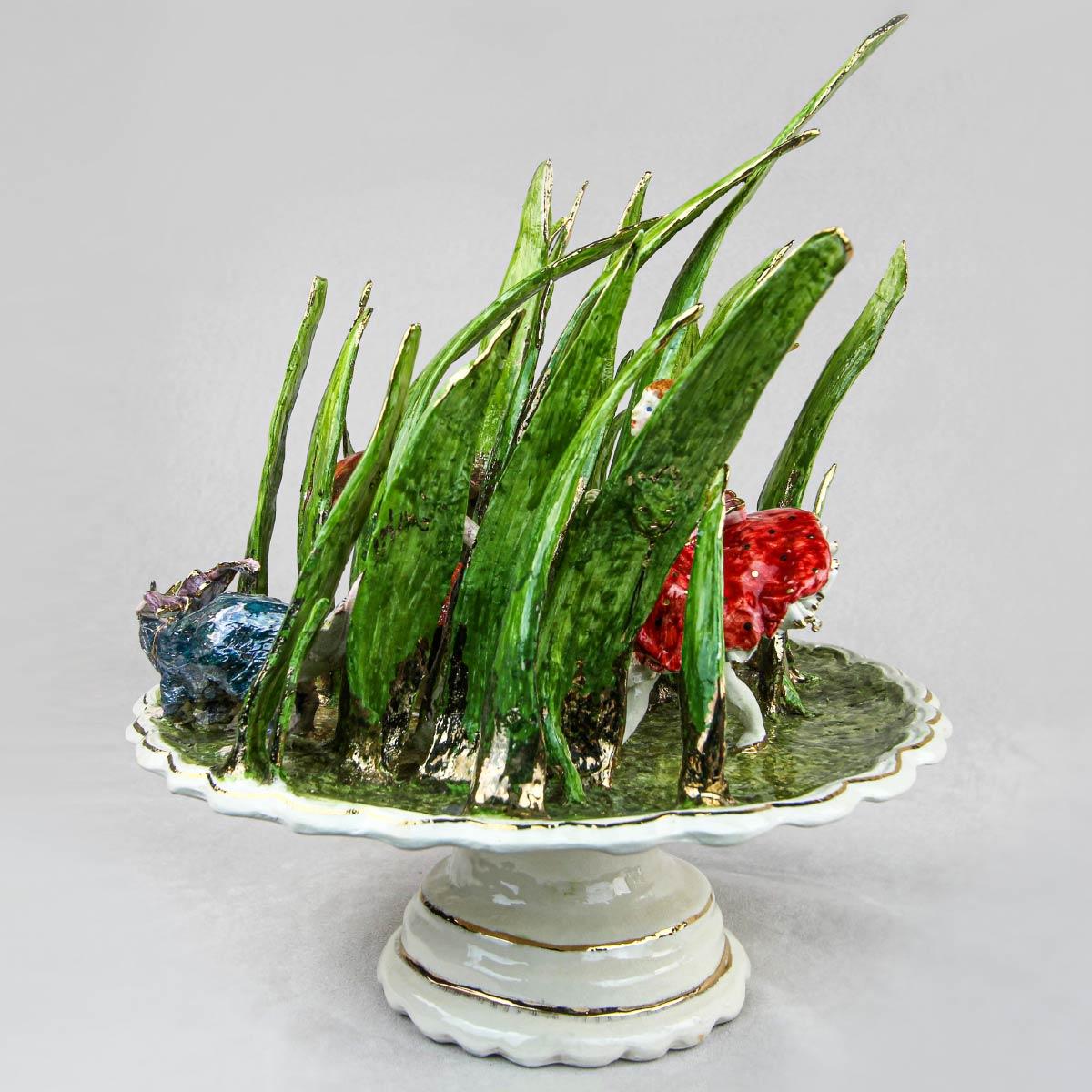 sculpture thumbellina stoneware gold Cecilia Coppola Italiano Plurale artist